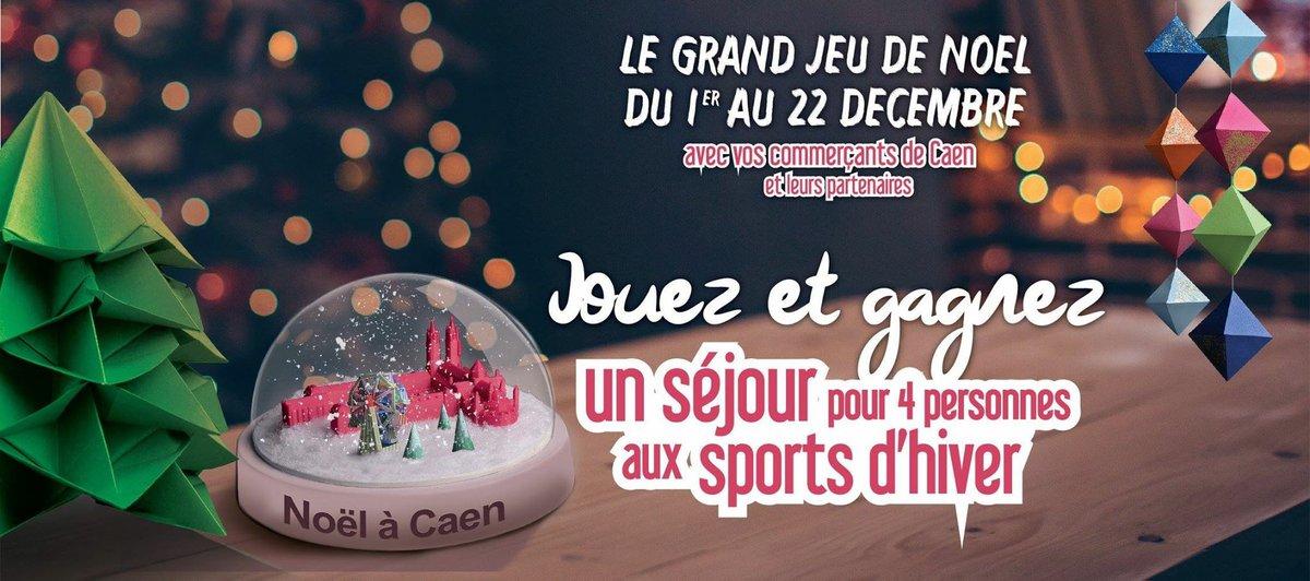 #NoëlàCaen 🎡🎄❄️ @CaenEvent partenaire du GRAND JEU DE NOËL : tentez de gagner un séjour pour 4 personnes aux Sports d'hiver ! ⛷🏂 ➡️ Pour participer : https://t.co/dRtv0DgTg5 https://t.co/pdNdxwgHTq