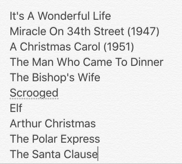 Doing a piece on Christmas films. This is my top ten.
