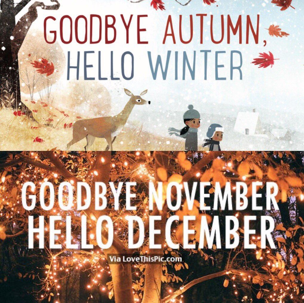 Mariana Alexa Hudson On Twitter Goodbye Autumn Hello Winter