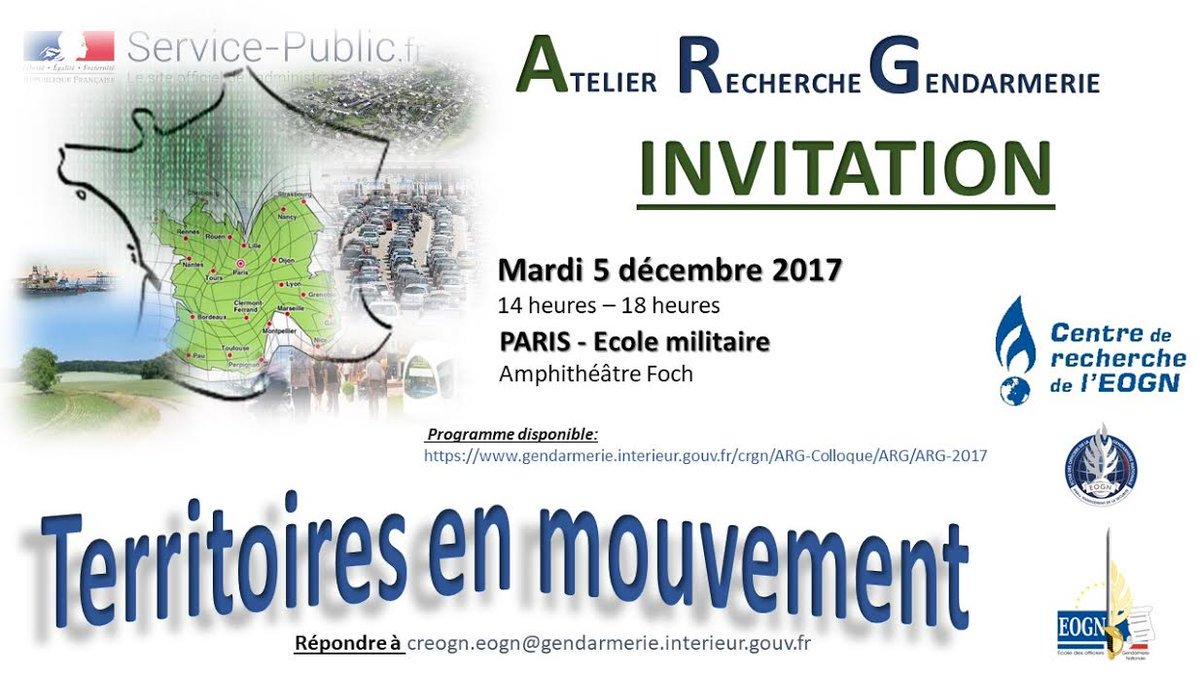 gendarmerienationale on twitter paris ecolemilitaire journe atelier recherche gendarmerie le 051217 sur la thmatique des territoires en mouvement