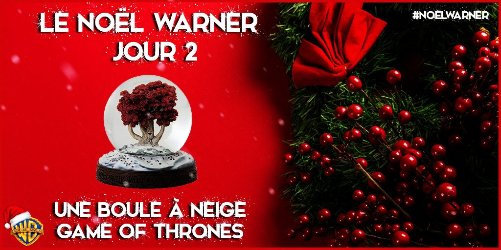 #NoelWarner [JOUR 2] RT + Follow pour tenter de remporter cette boule à neige #GameOfThrones !