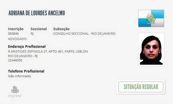 Adriana Ancelmo tem registro na OAB reativado mesmo presa https://t.co/hdd8qjReiL