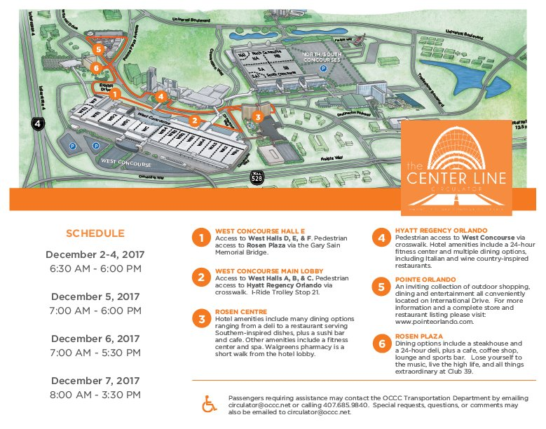 Orange County Convention Center Floor Plans Orlando I - Orange county convention center map