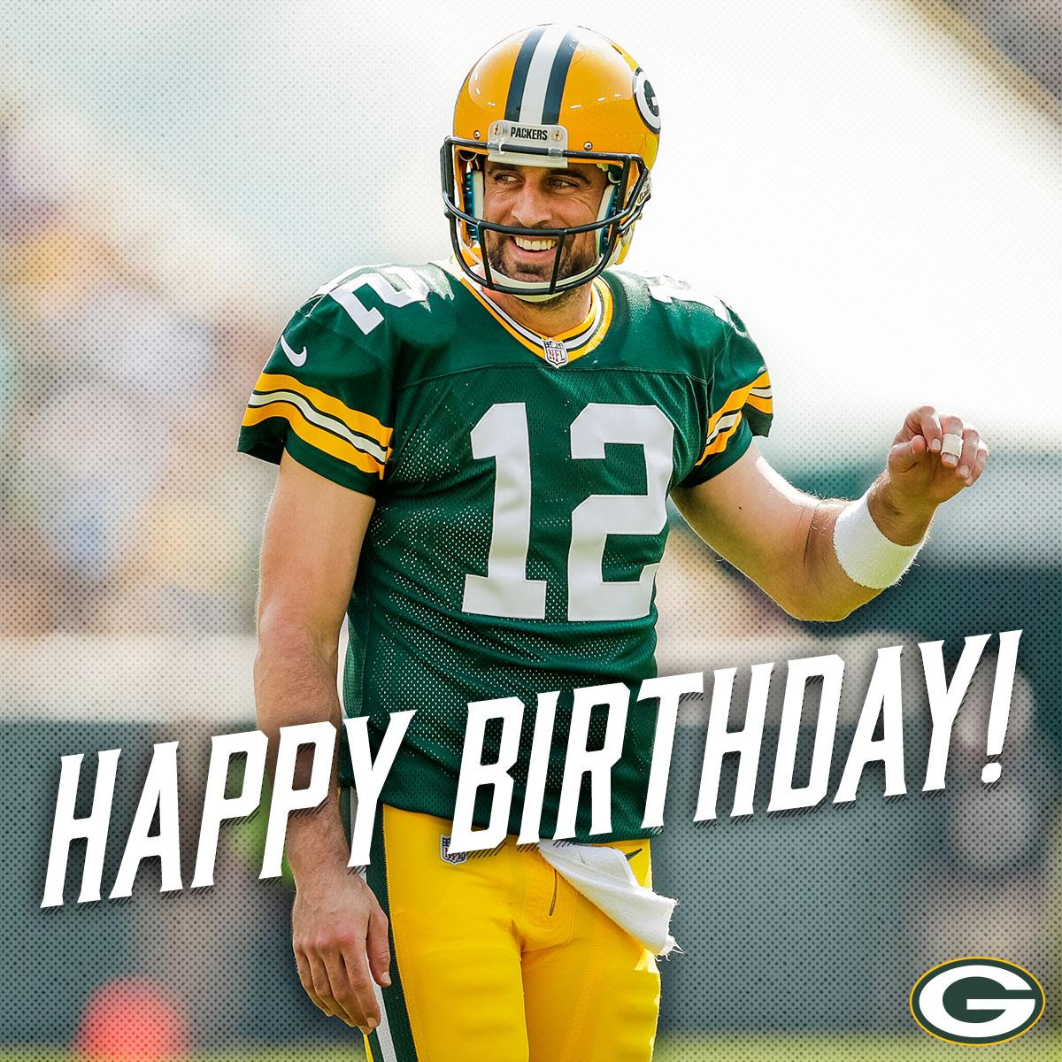 🎉 RT to wish #Packers QB @AaronRodgers12 a happy birthday!! 🎉 🎂
