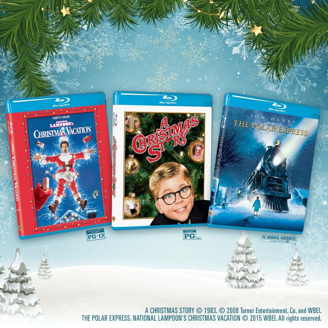 own them all on digital blu ray and dvd now thepolarexpress achristmasstory nationallampoonschristmasvacationpictwittercomkiad2qh54e