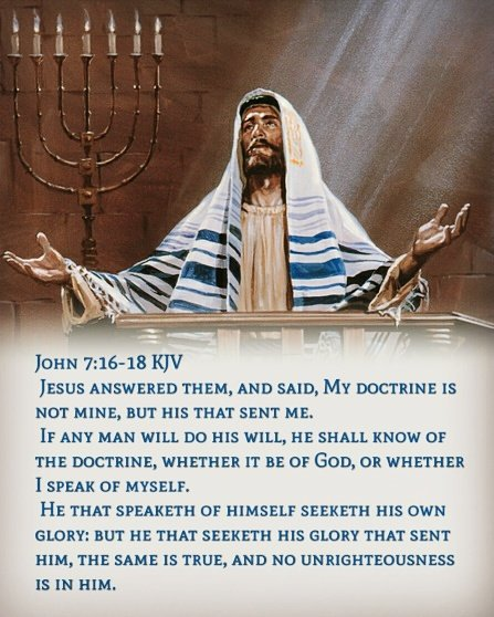 "Bible Verses KJV on Twitter: ""John 7:16 KJV Jesus answered them ..."
