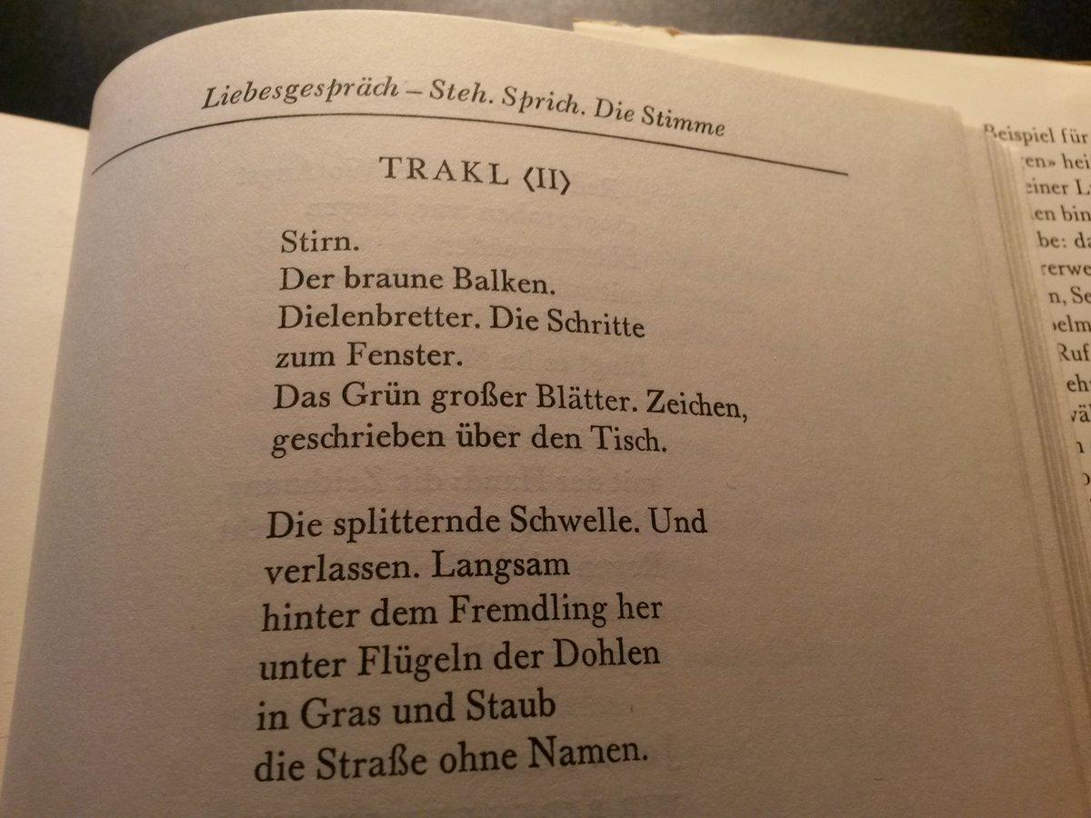 Georg Trakl On Twitter Eines Von Drei Trakl Gedichten Von