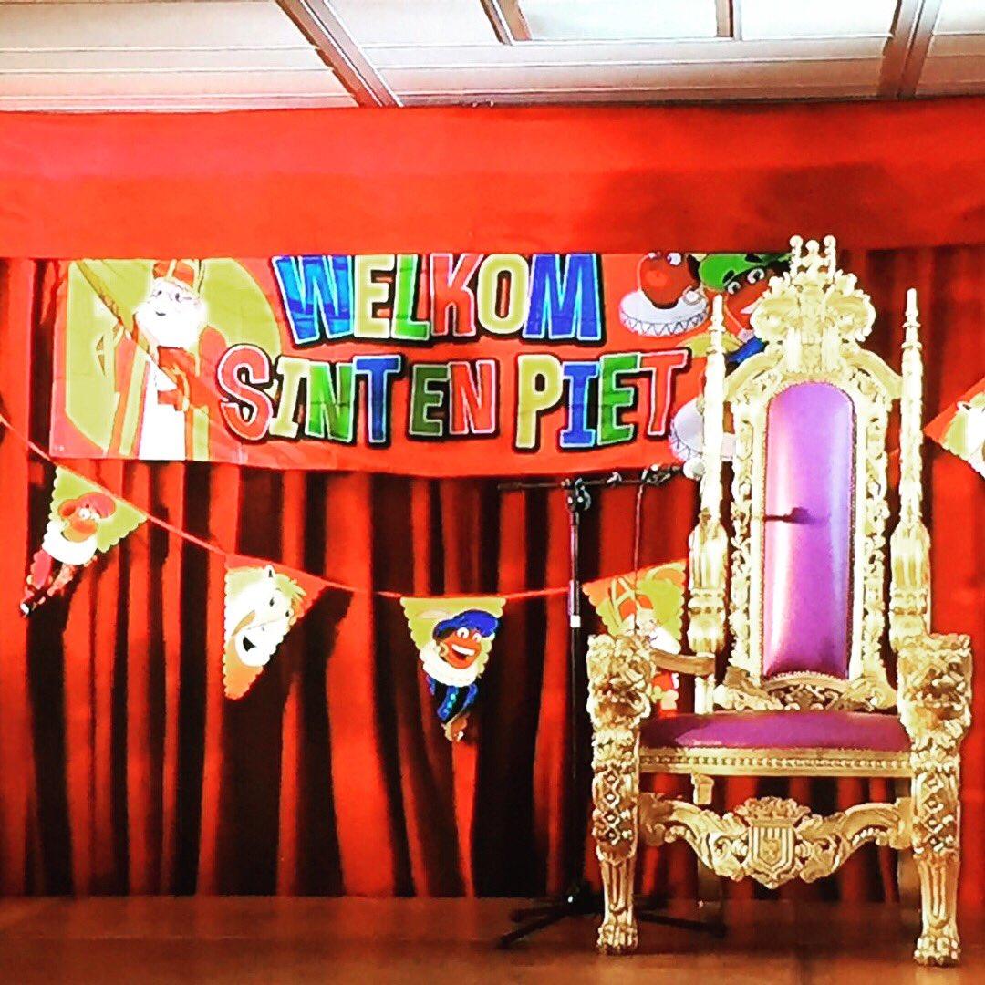We hebben vandaag #Sinterklaas weer welkom geheten #Amersfoort #podium #licht #geluid #aankleding #troon #partyregelaar