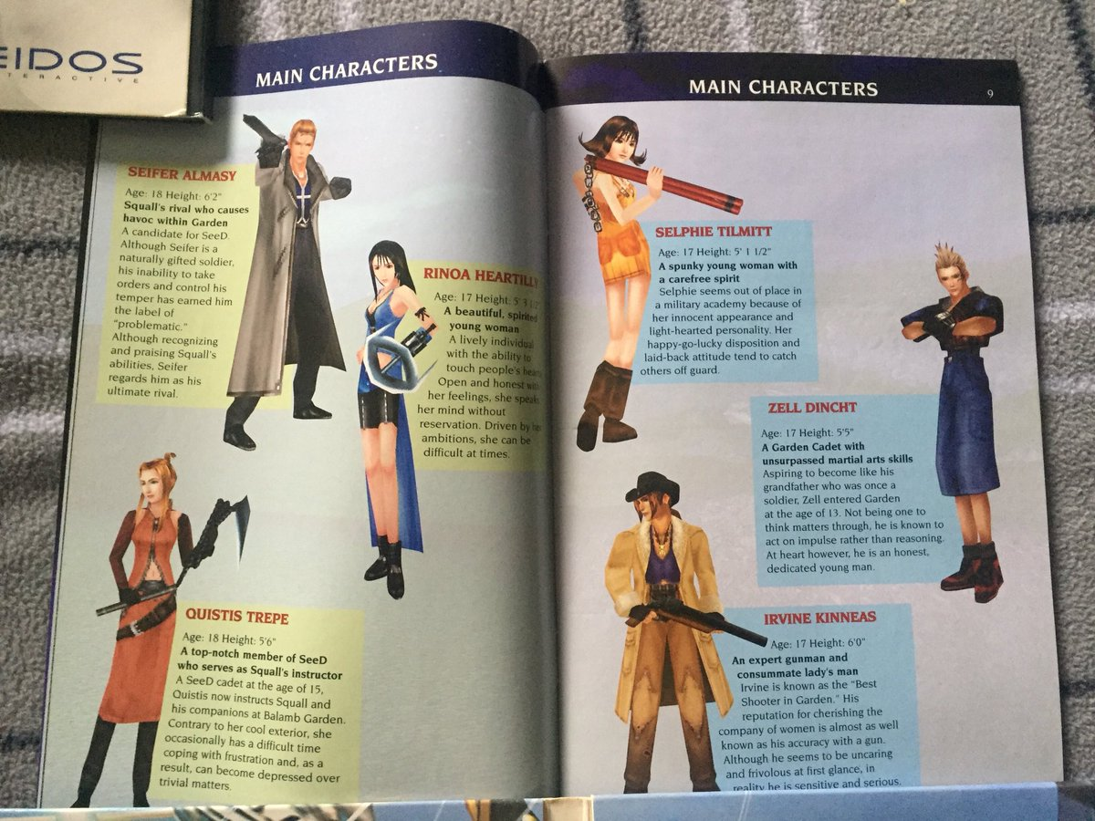 The supporting cast of Final Fantasy 8 (Squall is probably hiding in a closet somewhere) #ff8