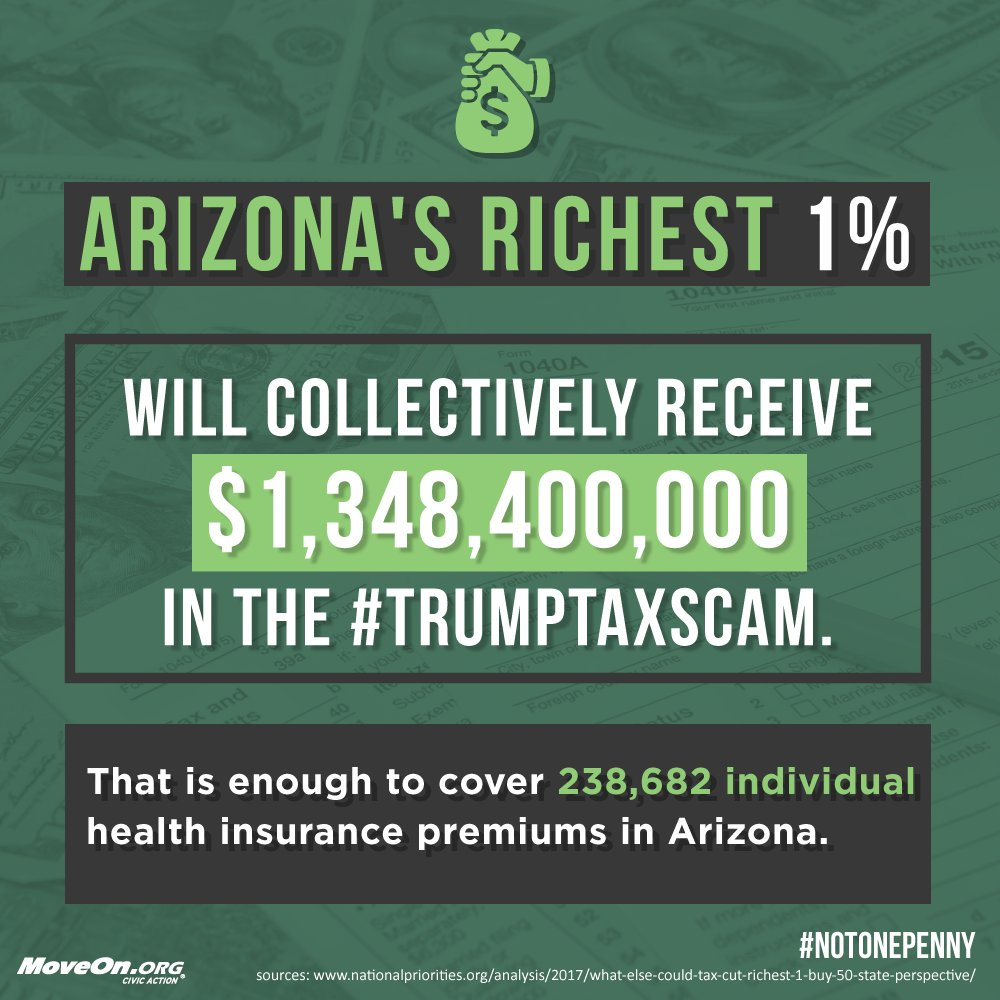 .@RepMcSally oppose the #TrumpTaxScam & vote #NotOnePenny more for the mega rich & corporations.