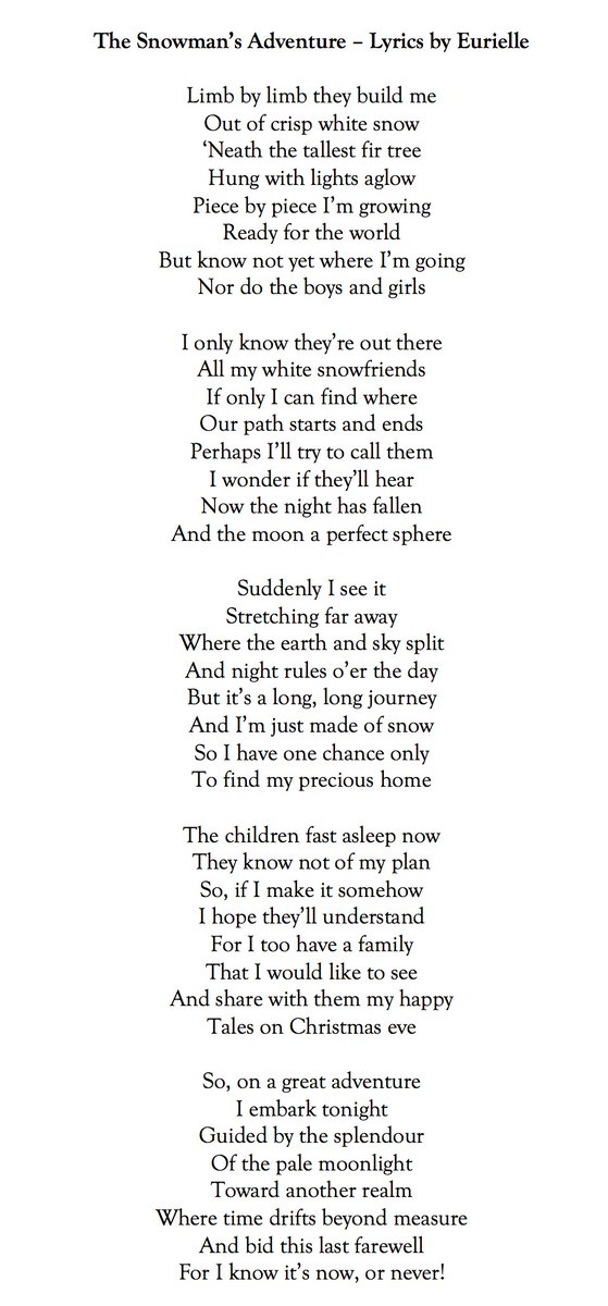co writing with ryanloudermusic about a lonely snowman who wants to find all his snowfriends in time for christmas i hope you like the lyrics - What Do The Lonely Do At Christmas Lyrics