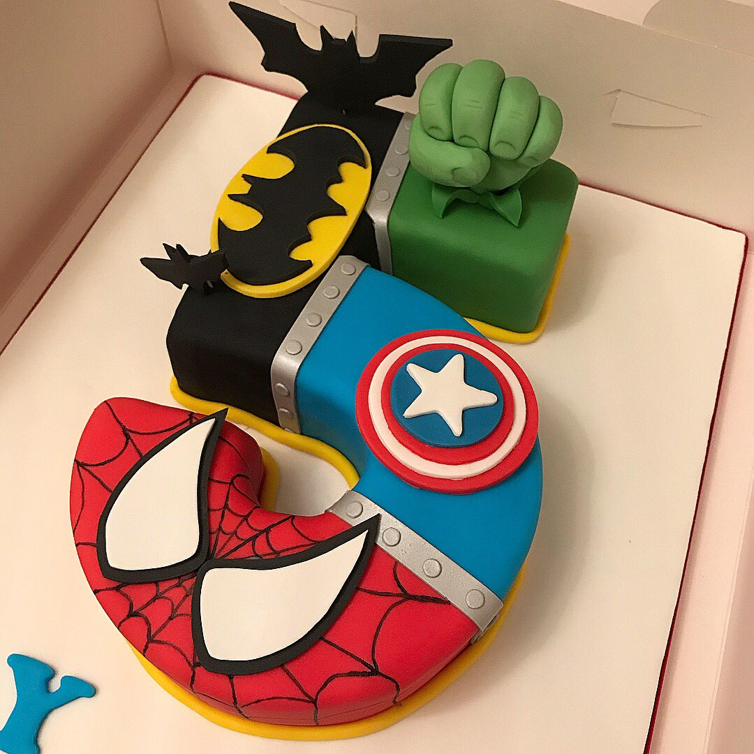 Tidbits Treats On Twitter Superhero Cake For A Super 5 Year