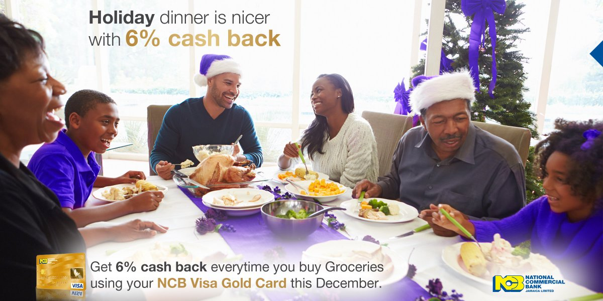 plus get 3 cash back on gas and utilities and 125 on everything else ncb golden christmas dinner cashbackpictwittercoma57e8ahcoh - A Golden Christmas 3