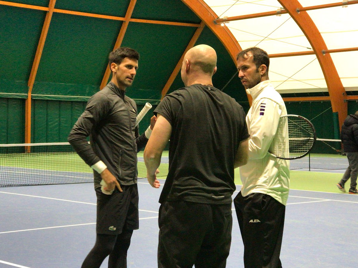 Lots to be done, but we embrace it with lots of excitement 💪👌. Practice today with @andreagassi and @stepec78