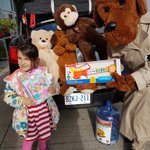 McGruff doing a great job at Canadian Tire store at the Kerr Street location - Cram-A-Cruiser.