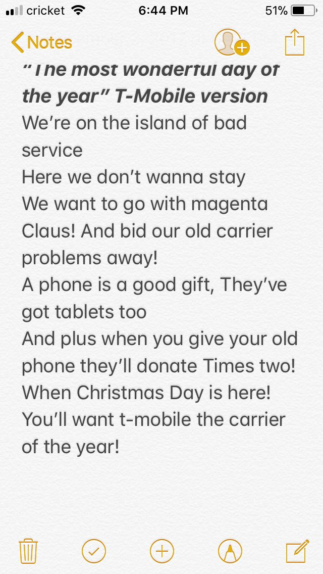 the lyrics were too long to tweet apparently d i used my favorite christmas song the most wonderful day of the year from my favorite rudolph movie