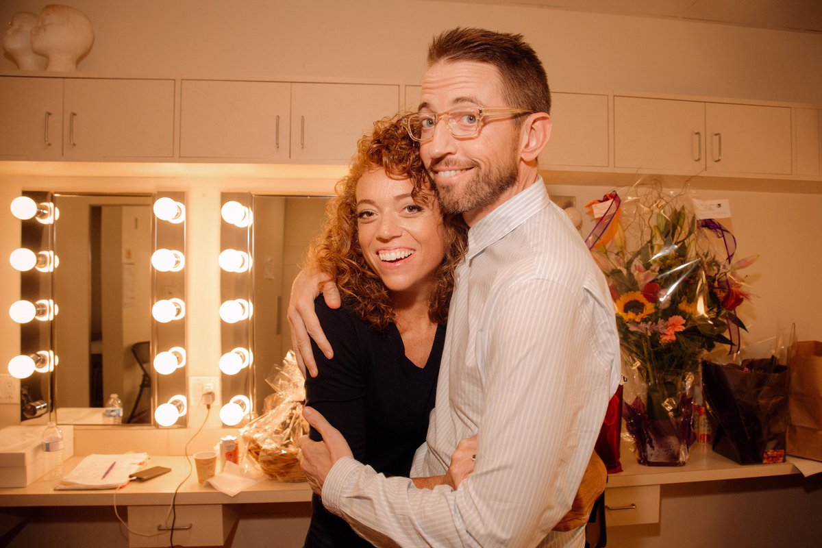 Photo of Neal Brennan  & his friend Michelle Wolf
