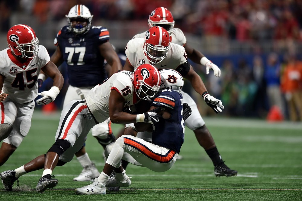 Revenge Tour:  #UGA avenges its four losses of 2016 and its one loss of 2017 by a combined score of 194-35.