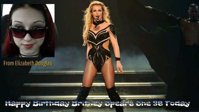Happy birthday britney spears from Elizabeth Douglas She 36 today. Keep on rocking britney spears