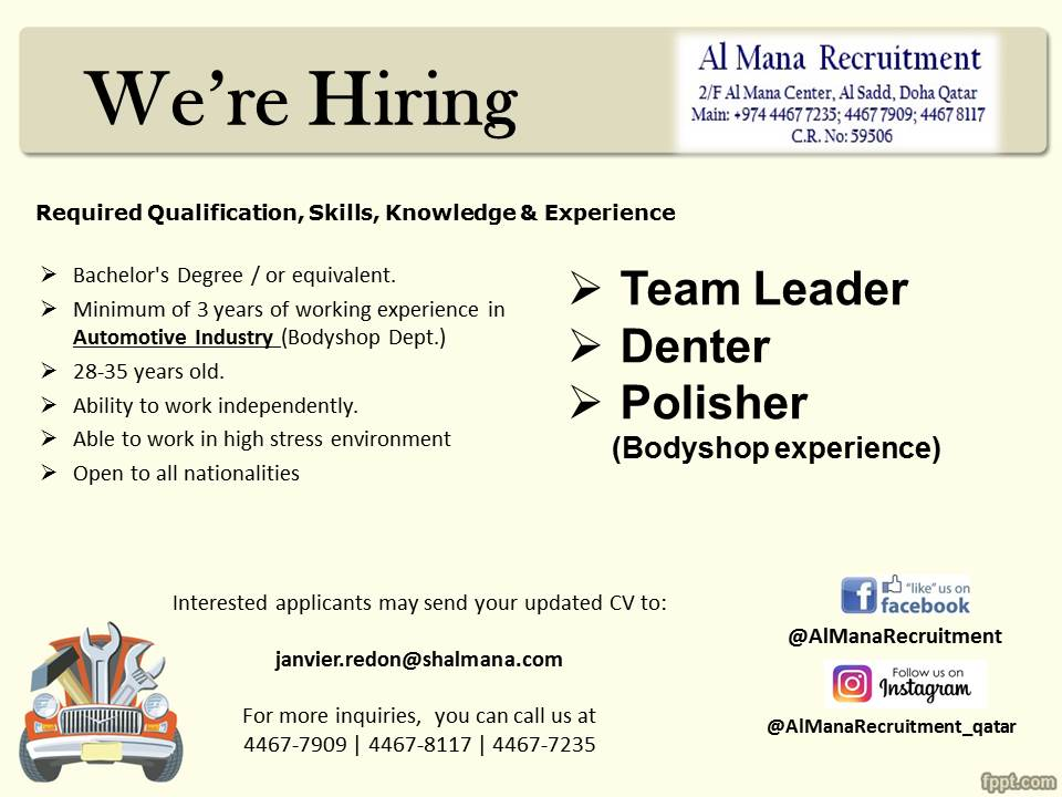 Al Mana Recruitment on Twitter: