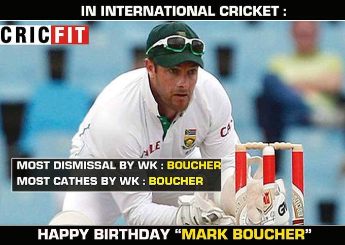 Happy Birthday Mark Boucher!!