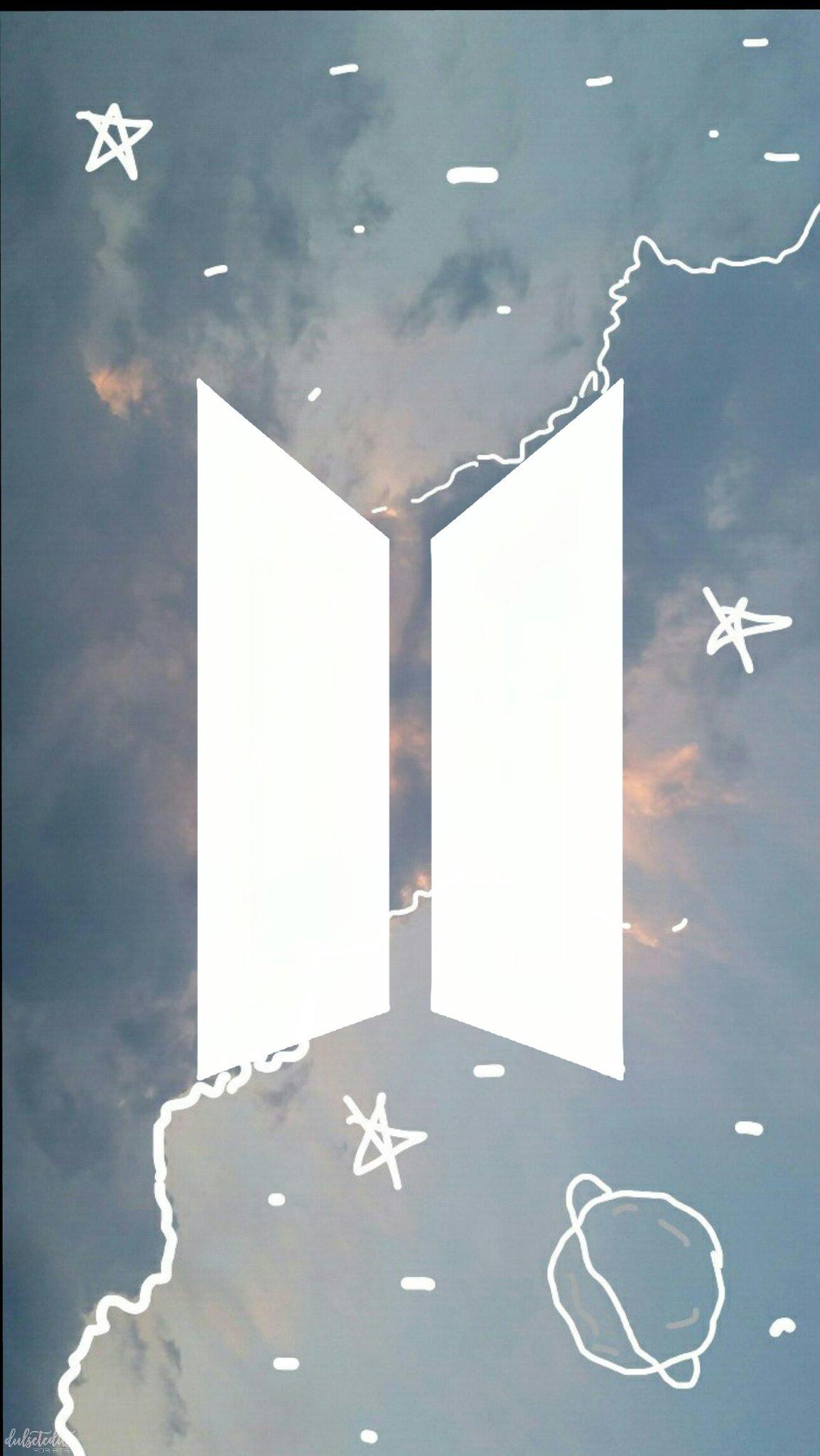"""둘 셋 편집🌙 on Twitter: """"BTS Logo Wallpaper / Lockscreen RT If you're going to save or use it ..."""