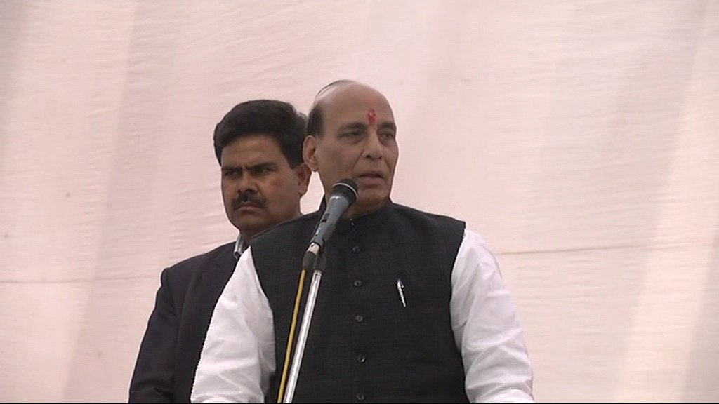Rajnath hit out at Congress vice president Rahul Gandhi and '3 children' in a different style