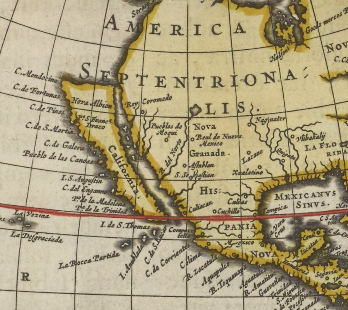 Nls map collections on twitter adventworldmap day 3 blaeus 1665 blaeus 1665 world map shows california as an island this was common it wasnt until the late 18th century after royal decrees and gumiabroncs Gallery