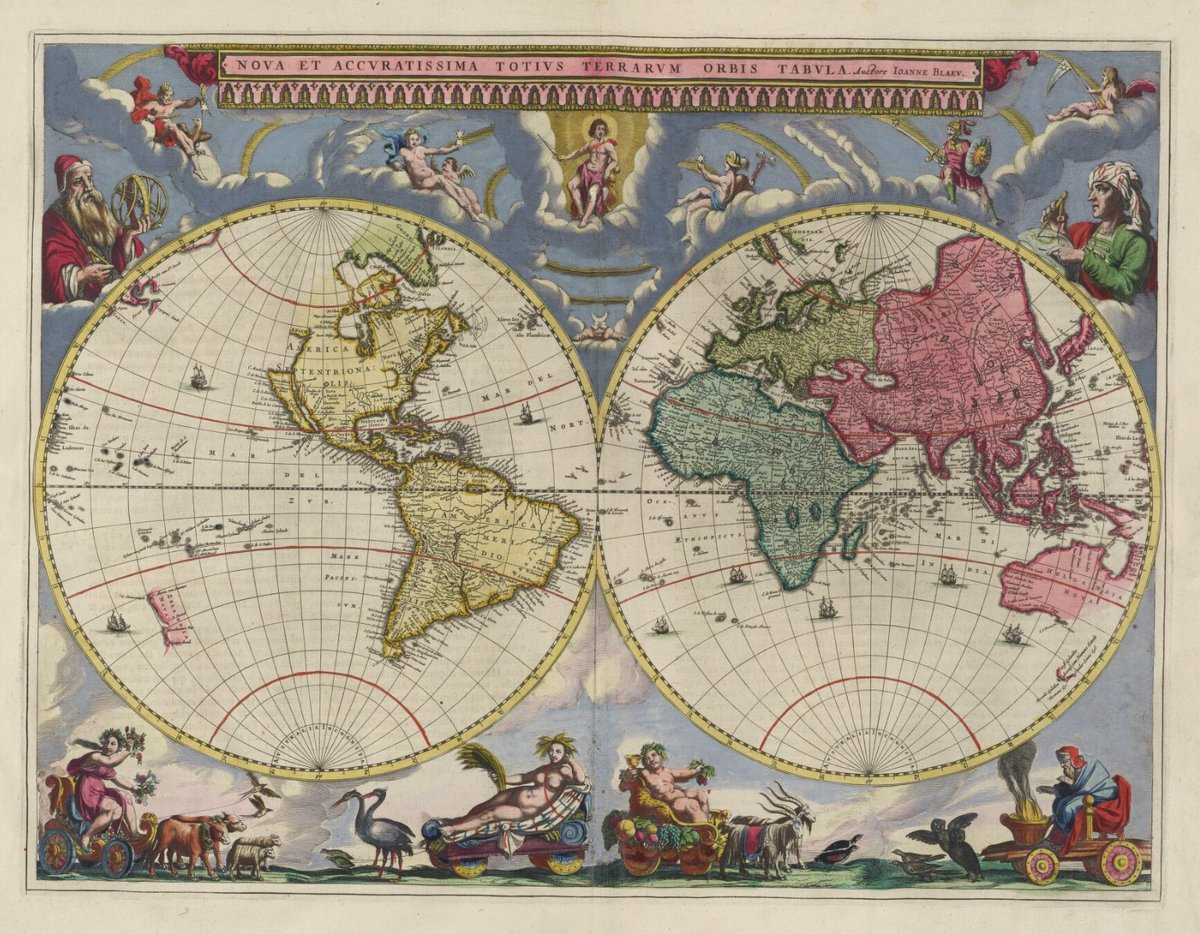 Nls Map Collections On Twitter Adventworldmap Day 3 Blaeu S 1665