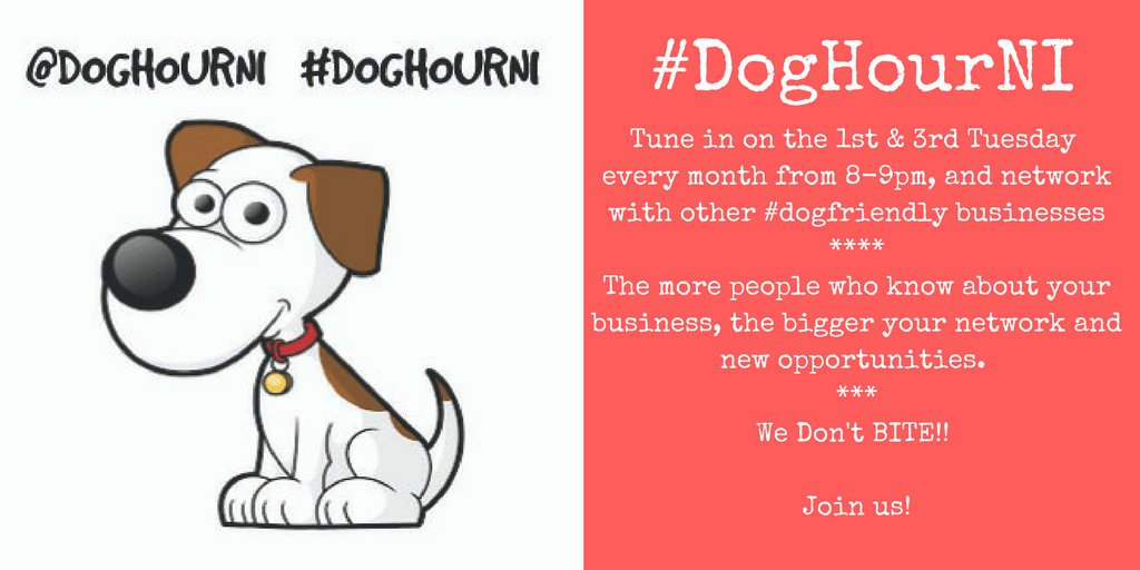 Join us this Tuesday from 8-9pm for #DogHourNI - tweet your Xmas offers and promotions.