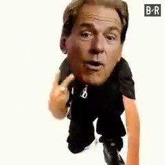 Nick Saban and the Tide after getting th...