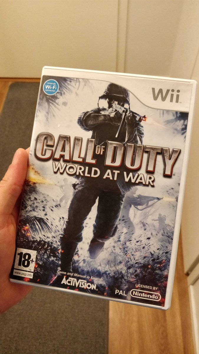 I just found this in my building's #trash! Never played Call of Duty before! Let's try XD #Nintendo #CoD #CallOfDuty