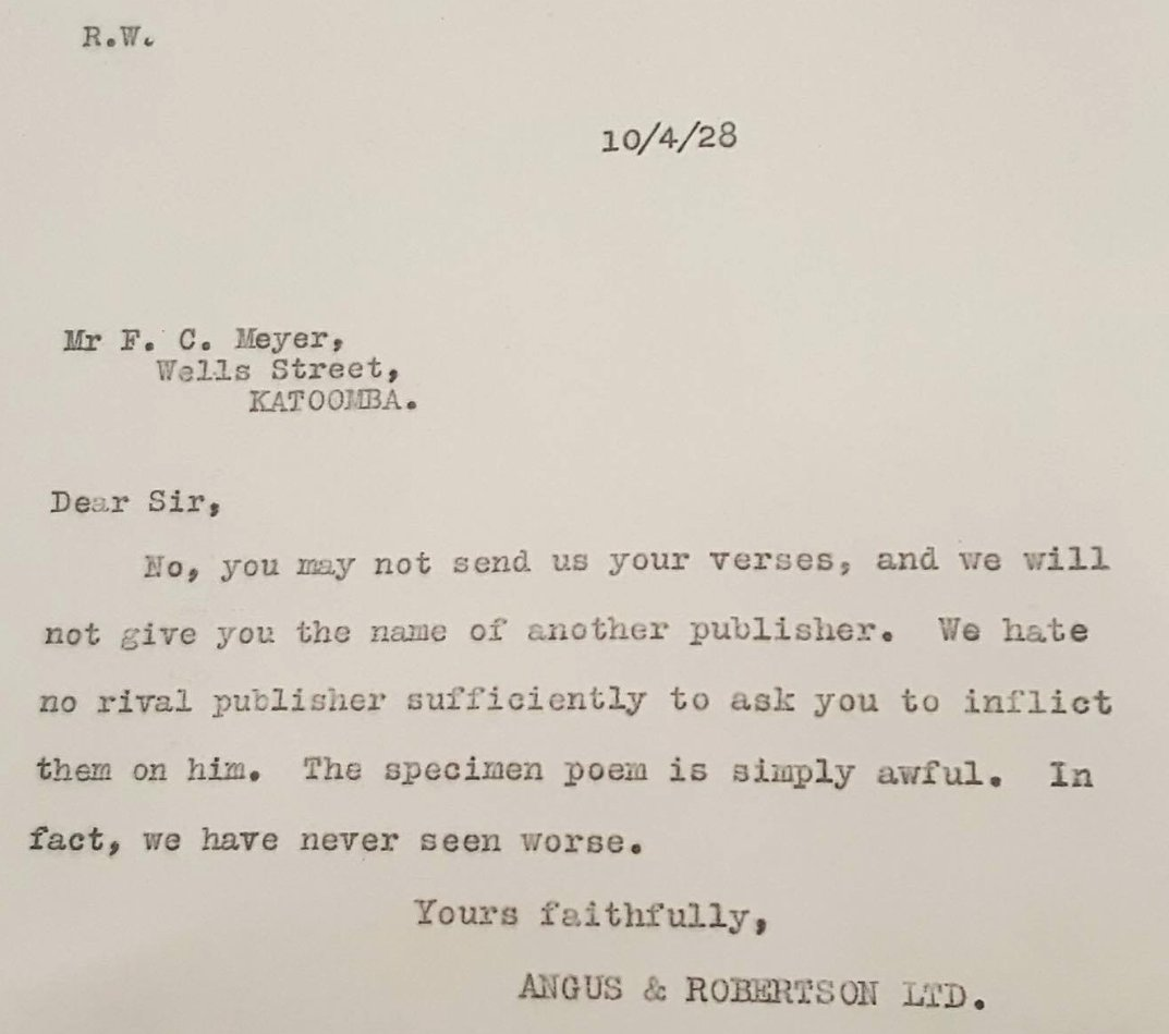 All other rejection letters can step down. We have a winner.