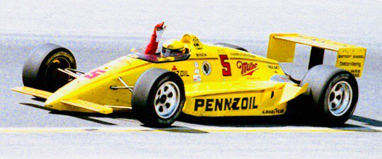 Happy Birthday Rick Mears.  3 ch ps;  4 Indy 500 wins; 6 Indy 500 poles; 29 career wins; 40 career poles