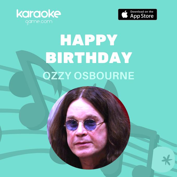 Dreamer is perfect choice for karaoke Sunday Happy Birthday Ozzy!
