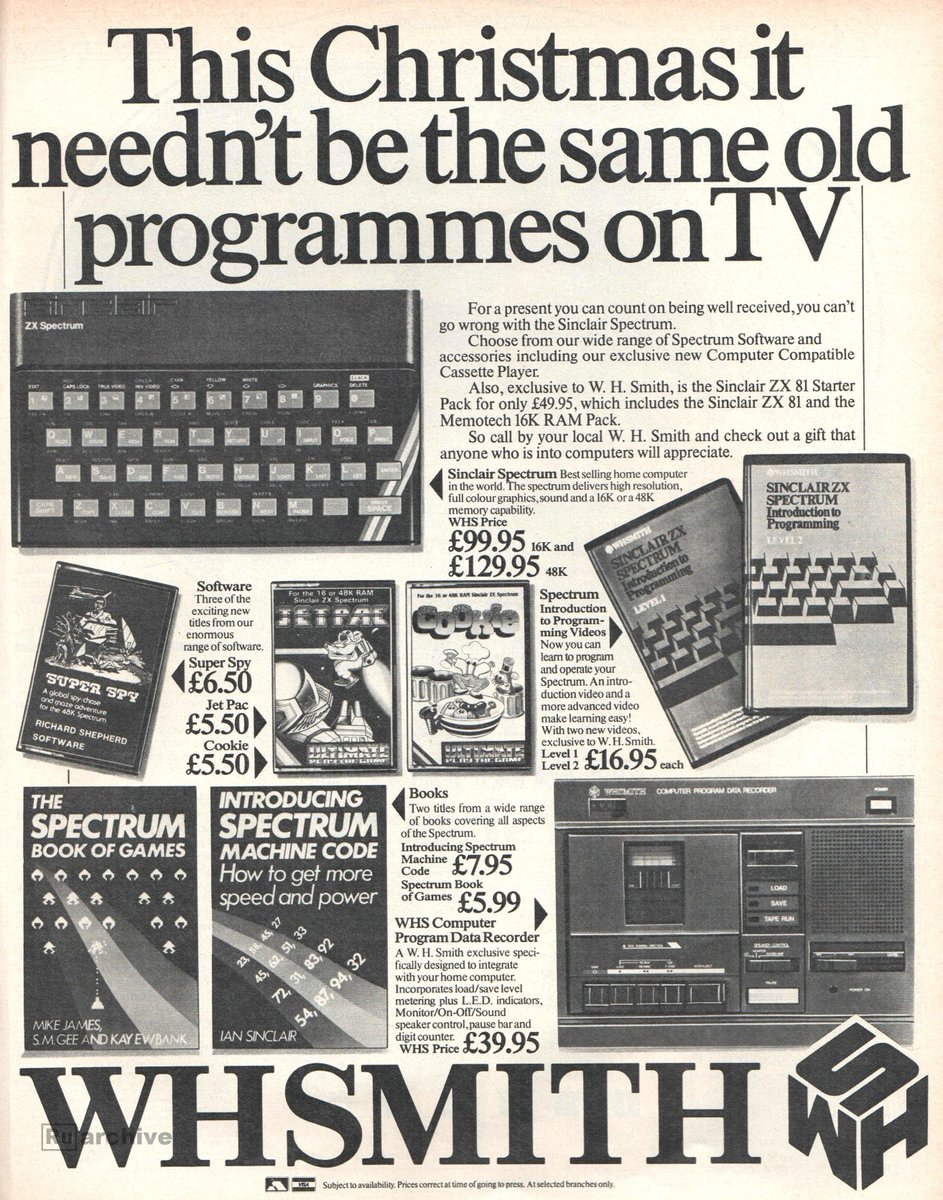 Russty russ on twitter from christmas 1983 this christmas it russty russ on twitter from christmas 1983 this christmas it neednt be the same old programmes on tv with wh smith get yourself a 16k zx spectrum for solutioingenieria Images