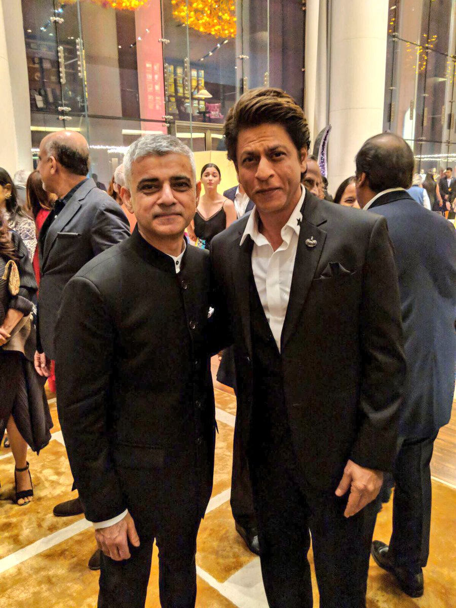 Wonderful meeting acting legend Shah Rukh Khan and creative industry leaders in Mumbai tonight. #LondonIsOpen is to talent, visitors, ideas and investment from India.