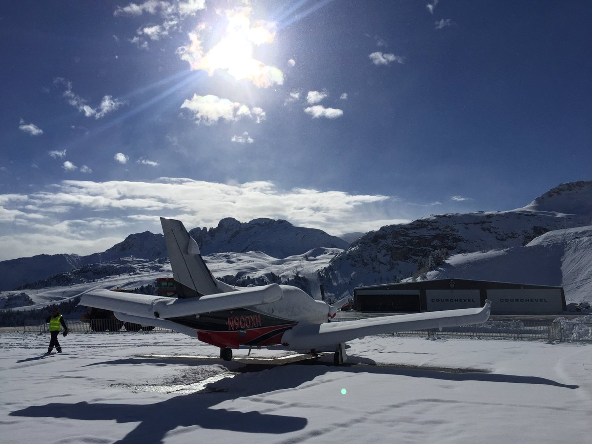 "TBM on Twitter: ""Daher TBM at Courchevel Airport on the ski resort ..."