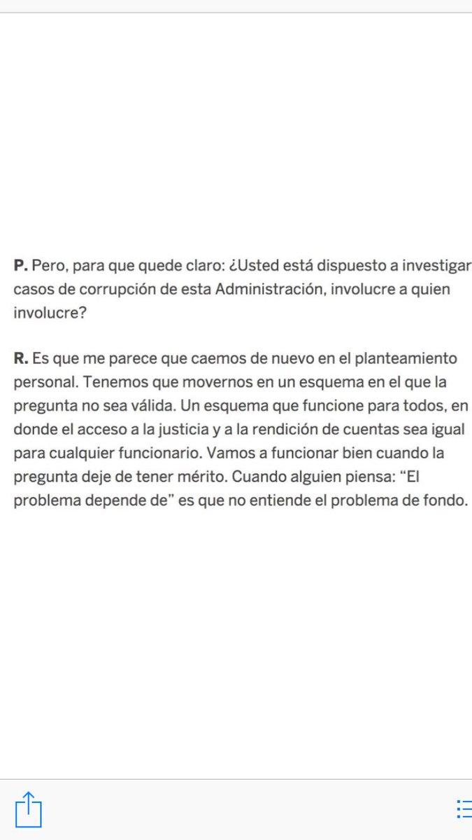 Ya está aclarado. Imposible esperar justicia con el PRI.  le dice a El País de España que no investigaría a  si llega a la presidencia. ¿Otra pregunta? Lean: