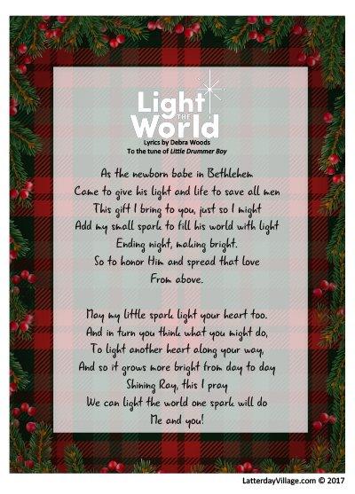 Latterdayvillage on twitter day 3 new lyrics for light the 717 pm 3 dec 2017 stopboris Images