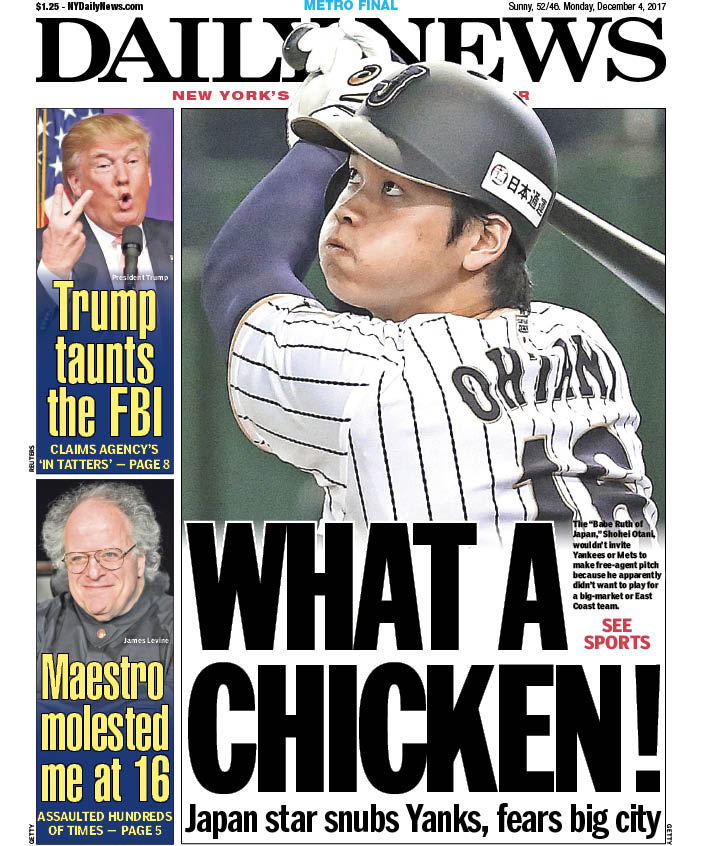 Image result for otani daily news cover