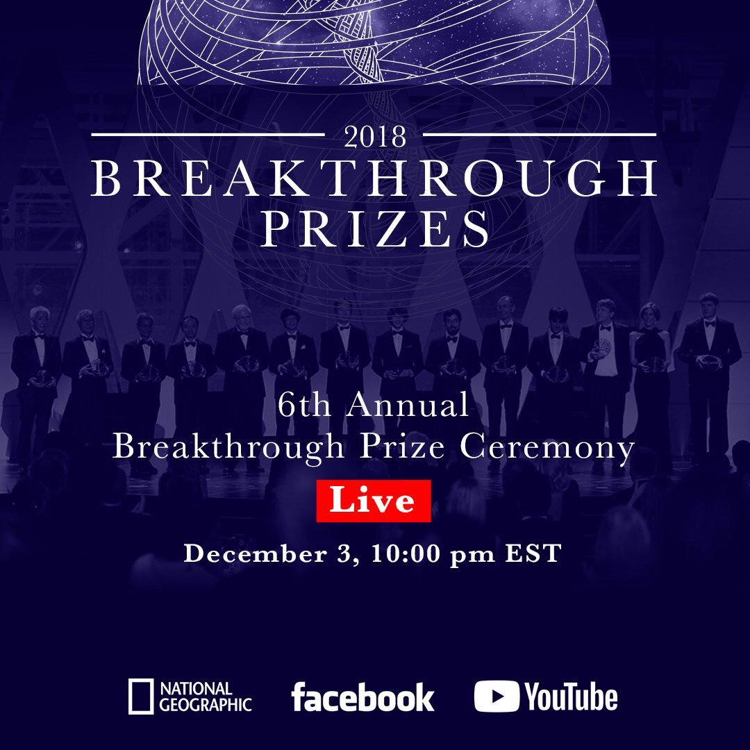 Catch me performing LIVE from the Breakthrough Prize in Silicon Valley tonight at 7pm PST / 10pm EST https://t.co/OmmuEPWOZJ