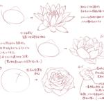 花の描き方まとめ。個人的に気を付けてることとか、意識してることとか。 pic.twitter.com…