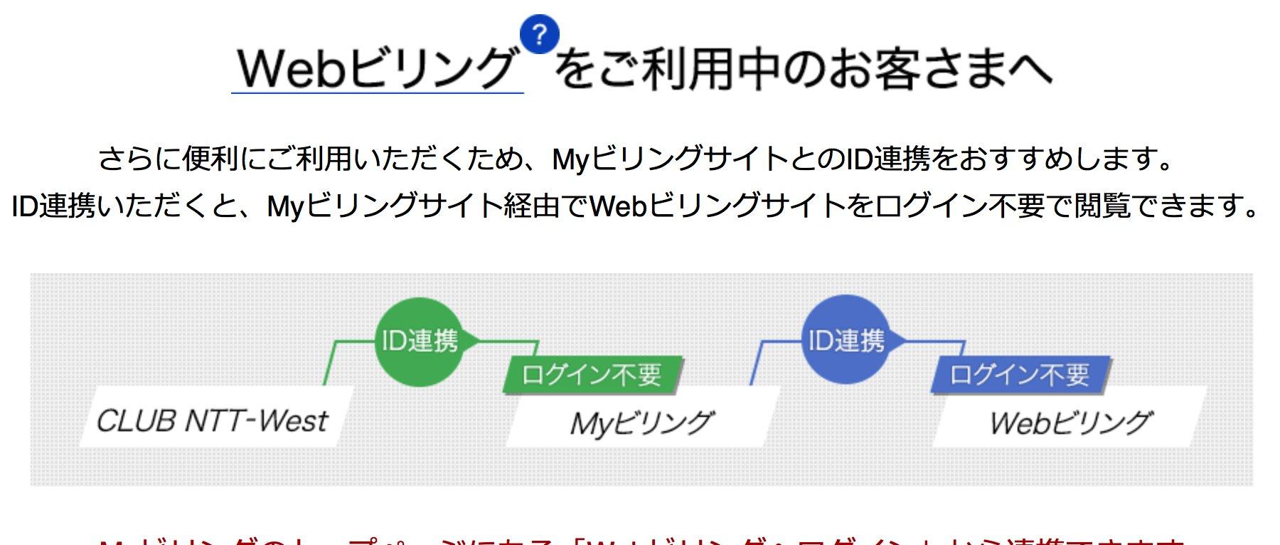 ビリング ntt web