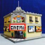 レゴで映画館つくりました。スマホを入れたら、どんな動画でも映画みたいに楽しめます! pic.twit…