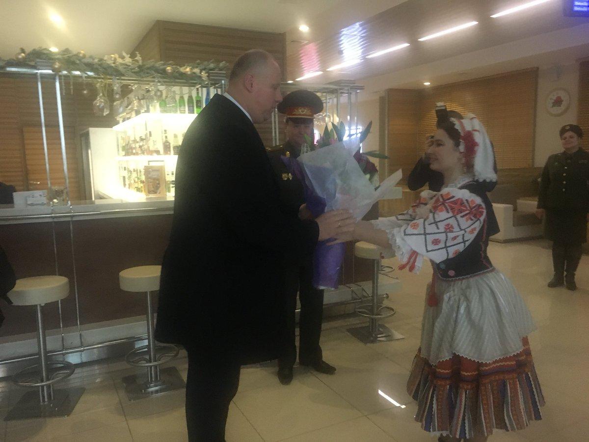 First visit in @Belarus! Warm welcoming...
