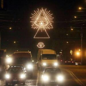 italyhome to the vatican headquarters of the catholic churchheres their new world order christmas lightsnot hiding a thing