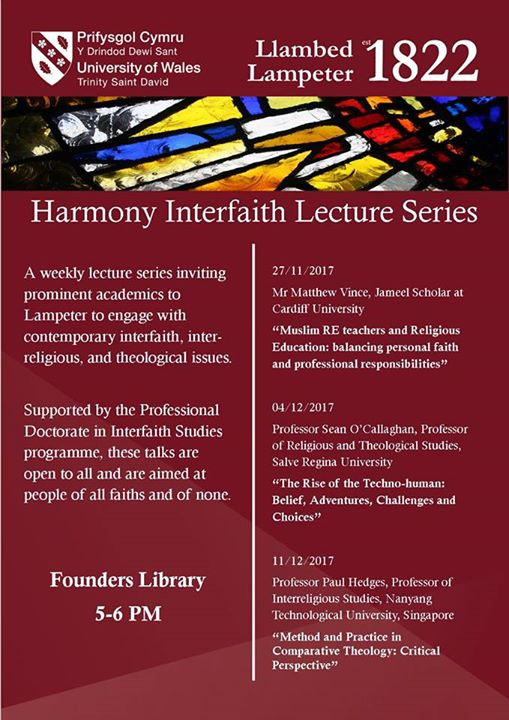 Lampeter Uwtsd On Twitter Today Harmony Interfaith Lecture Series
