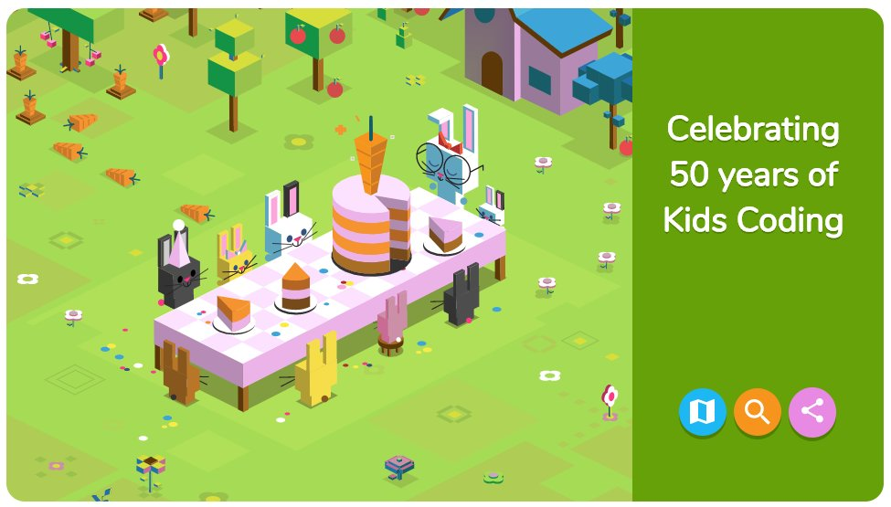 4996c4a35d0b Have you tried today s carrot munching Google Doodle yet  It s the first  ever coding doodle celebrating 50 years of kids coding languages - and also  the ...