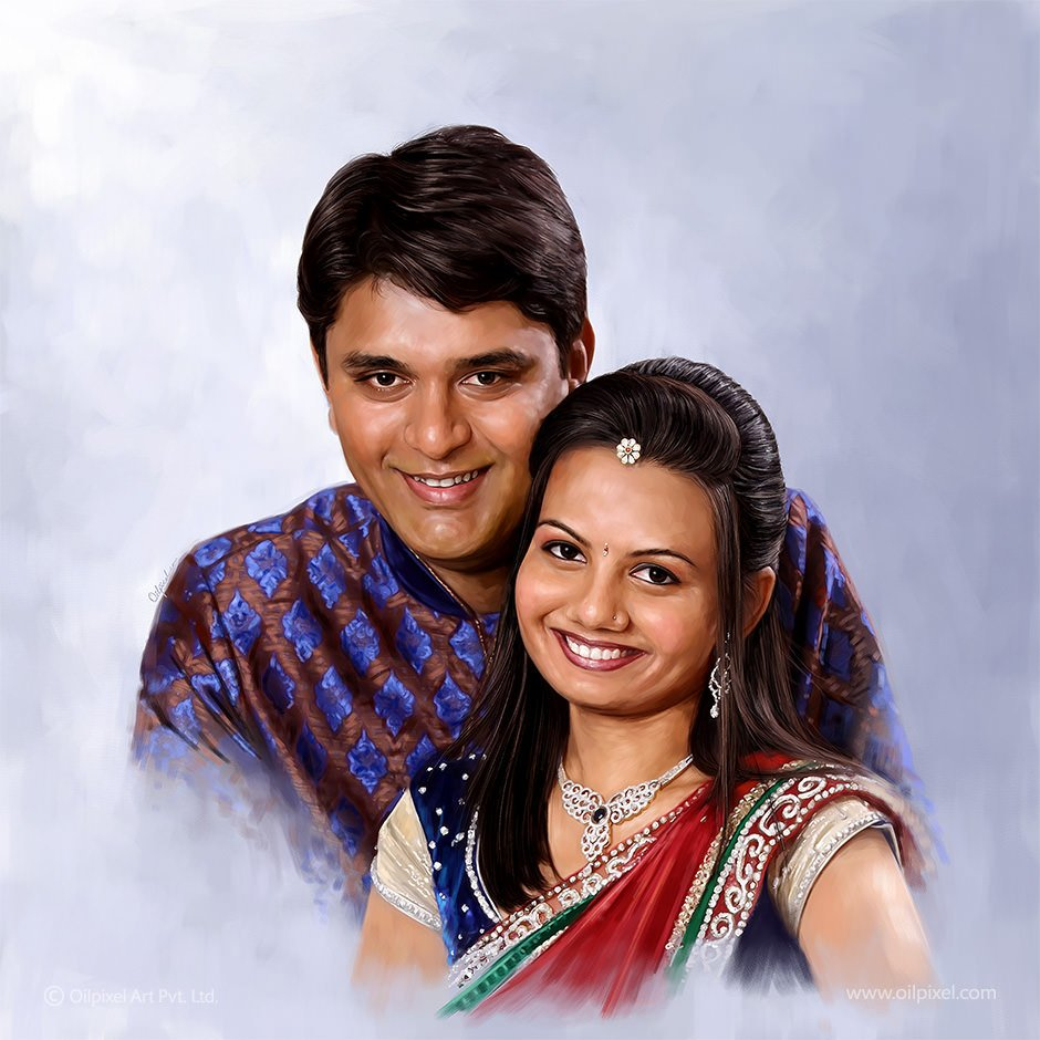Oilpixel On Twitter Newly Married Couple Portrait Painting By Oilpixel Bring Your Memories To Life With Oilpixel S Artistic Brush Strokes Https T Co Dxpy3fxv59 Couplepainting Getpainted Https T Co Dr2t7dwhyh